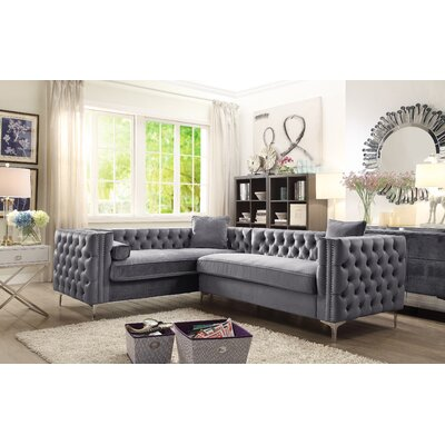 Alsafi Sectional Upholstery: Gray, Orientation: Left Hand Facing