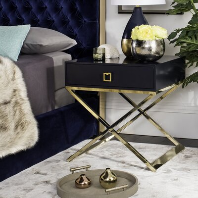 Mallen End Table Finish: Navy