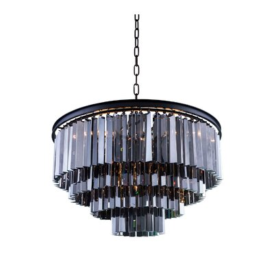 Lavinia 8-Light Drum Crystal Pendant Finish: Mocha Brown, Crystal: Silver Shade (Grey)