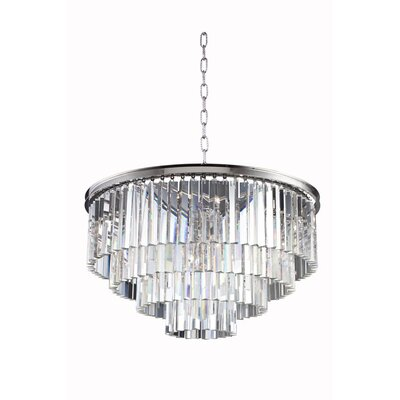 Lavinia 8-Light Drum Crystal Pendant Finish: Polished Nickel, Crystal: Crystal (Clear)