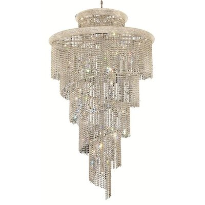 Mathilde 41-Light Crystal Pendant Finish: Chrome, Crystal Trim: Spectra Swarovski
