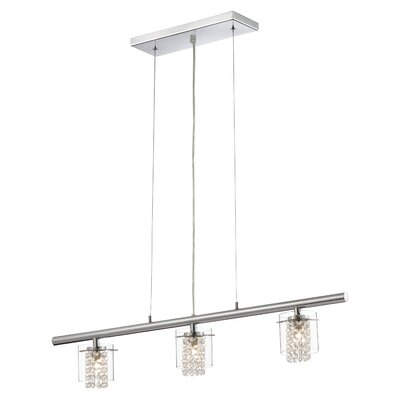 Algol 3-Light Kitchen Island Pendant