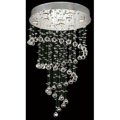 Deidamia 10-Light Crystal Chandelier Crystal Trim: Royal Cut