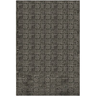 Somnus Hand-Knotted Charcoal Area Rug Rug Size: Rectangle 6 x 9