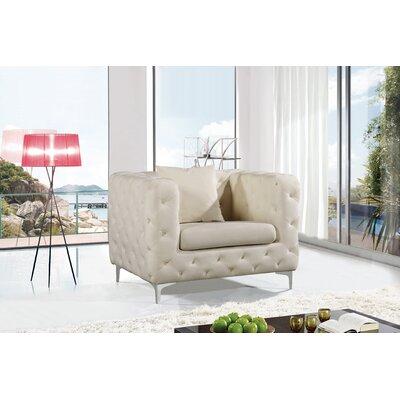 Maubray Armchair Upholstery: Cream