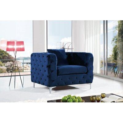 Maubray Armchair Upholstery: Navy