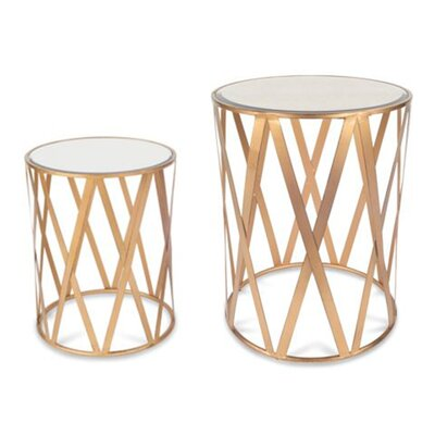 Alecto Drum 2 Piece End Table