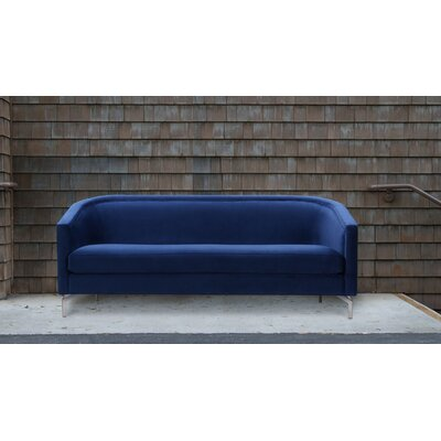 Mihika Cabriole Sofa Upholstery: Navy Blue