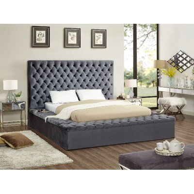 Ruthann Upholstered Storage Platform Bed Size: Queen, Color: Gray