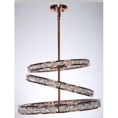 Cora 12-Light Kitchen Island Pendant Finish: Copper