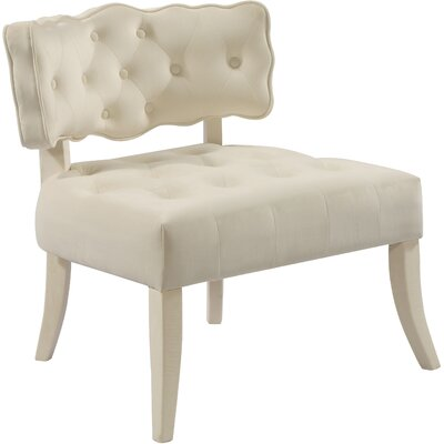 Fairway Slipper Chair Upholstery: Cream