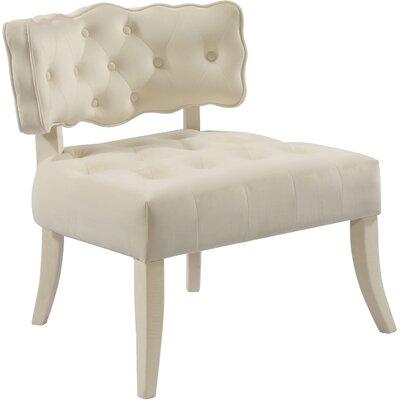Fairway Slipper Chair Upholstery: Cream
