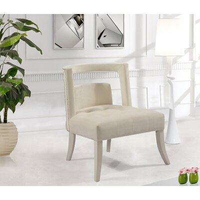 Oak Barrel Chair Upholstery: Cream