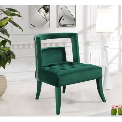 Oak Barrel Chair Upholstery: Green