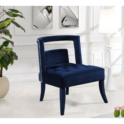 Oak Barrel Chair Upholstery: Navy