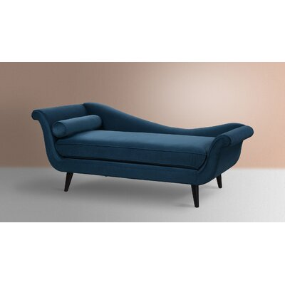 Florentia Chaise Lounge Upholstery: Satin Teal