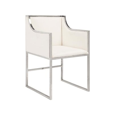 Maliyah Arm Chair Color: White