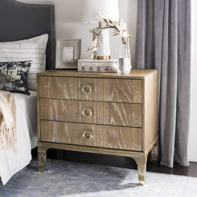 Daniella 3 Drawer Nightstand Color: Rustic Oak