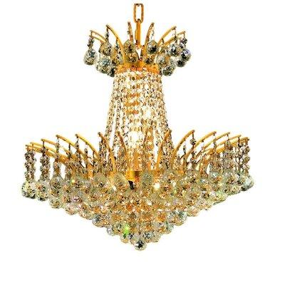 Phyllida 8-Light Chain Empire Chandelier Finish: Gold, Crystal Trim: Elegant Cut
