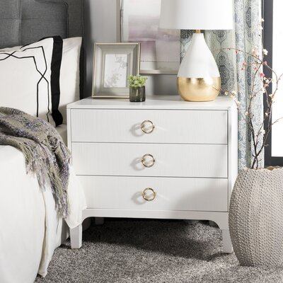 Daniella 3 Drawer Nightstand Color: White
