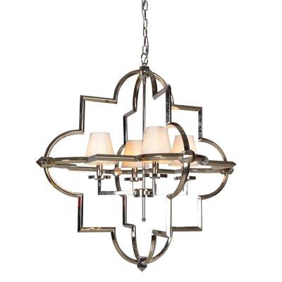 Leda� 4-Light Candle-Style Chandelier Size: 36.2 H x 34.25 W x 34.25 D