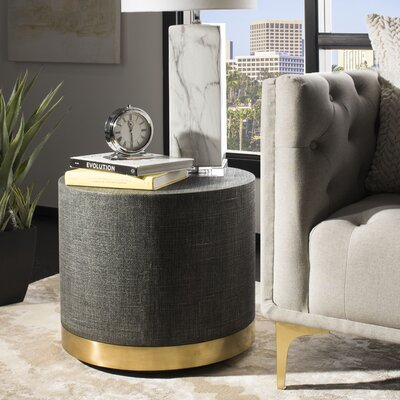 Karsten Faux Raffia End Table