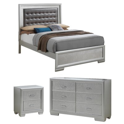 Aguilera Upholstered Panel Configurable Bedroom Set