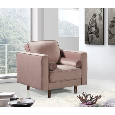 Pamula Velvet Armchair Upholstery: Pink