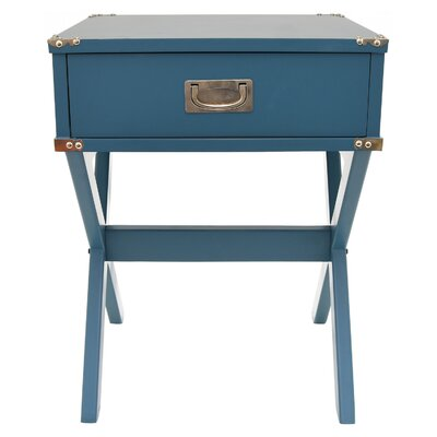End Table with Storage Color: Blue