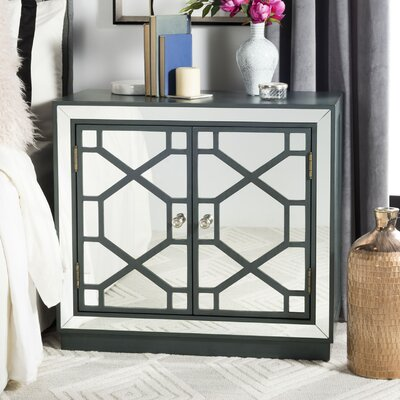 Emmeline 2 Door Accent Chest Finish: Steel Teal