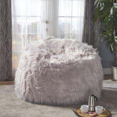Furry Bean Bag Sofa Upholstery: Lavender
