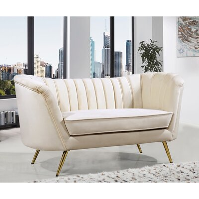 Canh Loveseat Upholstery: Cream