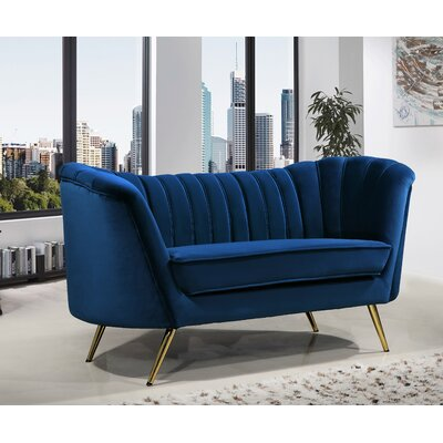 Canh Loveseat Upholstery: Navy