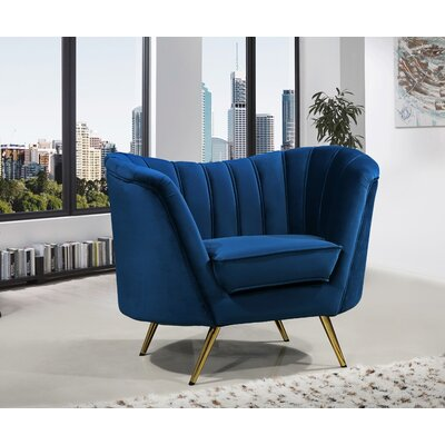 Canh Barrel Chair Upholstery: Navy