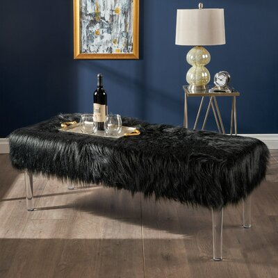 Downen Cocktail Ottoman Upholstery: Black