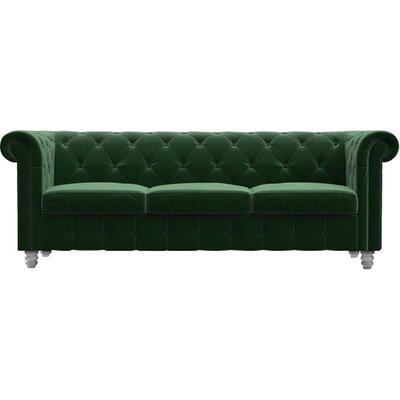 Whitely Sofa Upholstery: Emerald Green