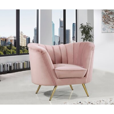 Canh Barrel Chair Upholstery: Pink