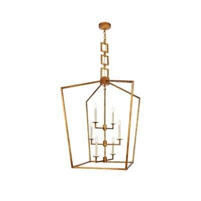 Isoline 6-Light Foyer Pendant Finish: Golden Iron, Size: 43.5 H x 29 W x 29 D