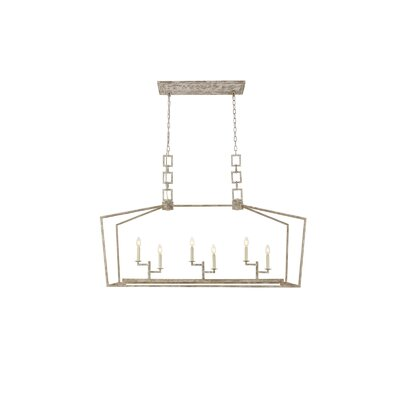 Isoline 6-Light Candle-Style Chandelier Finish: Ivory Wash