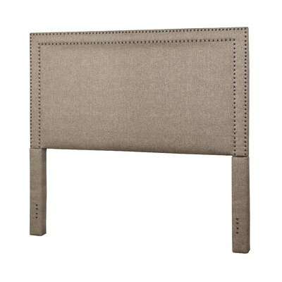 Hayley Upholstered Panel Bed Size: Queen, Color: Brown