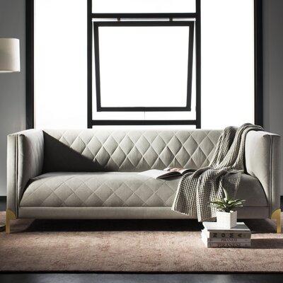 Kohen Diamond Trellis Sofa Upholstery: Light Gray