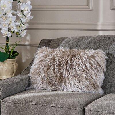 Kingstowne Fur Lumbar Pillow Color: Stone Gray