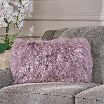 Kingstowne Fur Lumbar Pillow Color: Light Purple