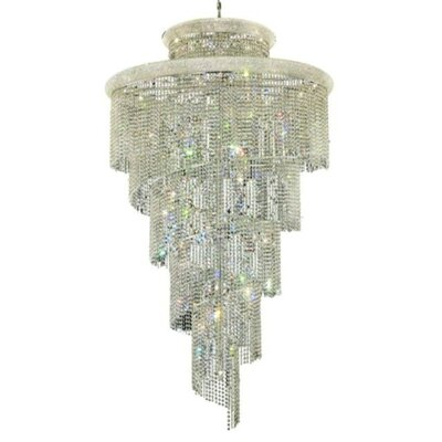 Mathilde 41-Light Crystal Pendant Finish: Chrome, Crystal Trim: Royal Cut
