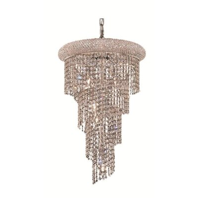 Mathilde 8-Light Cascade Pendant Finish: Chrome, Crystal Trim: Spectra Swarovski