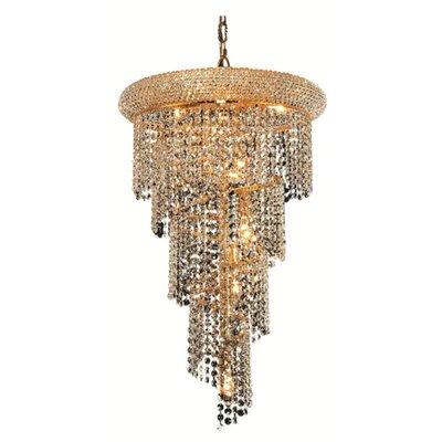 Mathilde 8-Light Cascade Pendant Finish: Gold, Crystal Trim: Elegant Cut