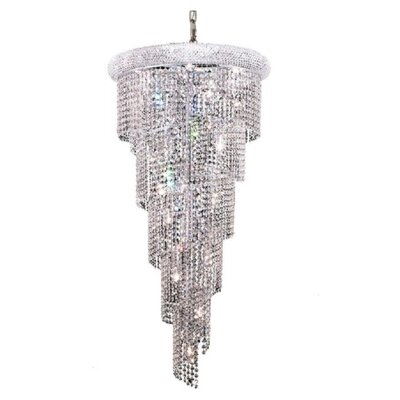 Mathilde 18-Light Crystal Pendant Finish: Chrome, Crystal Trim: Strass Swarovski