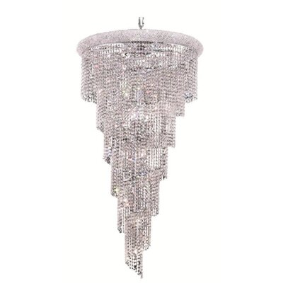 Mathilde 22-Light Crystal Pendant Finish: Chrome, Crystal Trim: Royal Cut