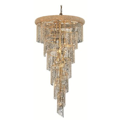 Mathilde 22-Light Crystal Pendant Finish: Gold, Crystal Trim: Royal Cut