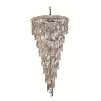 Mathilde 26-Light Crystal Pendant Finish: Chrome, Crystal Trim: Spectra Swarovski